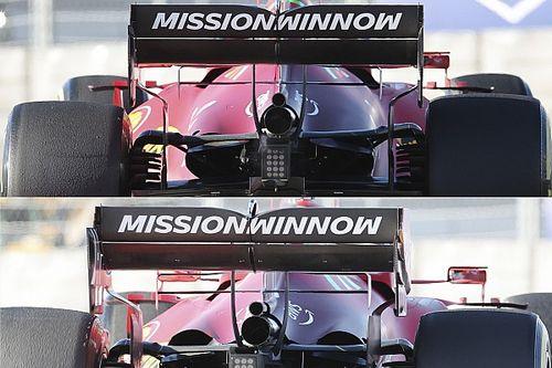Ferrari: due cofani motore molto diversi sulla SF21