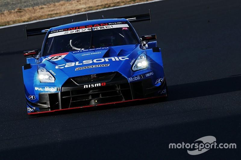 岡山公式テスト1日目午後 青い新幹線が復活! カルソニックIMPUL GT-Rが驚速タイムをマーク