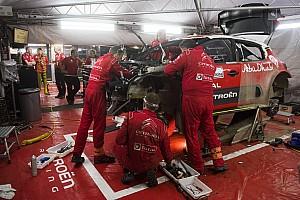 WRC Самое интересное Таймлапс: механики Citroen три часа чинят разбитую машину Мика