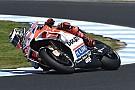 """MotoGP Lorenzo: """"Me asusté; pensaba que me había roto la tibia"""""""