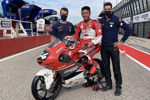 Debut Moto3, Mario Aji Pakai Nomor Balap Mendiang Ayah