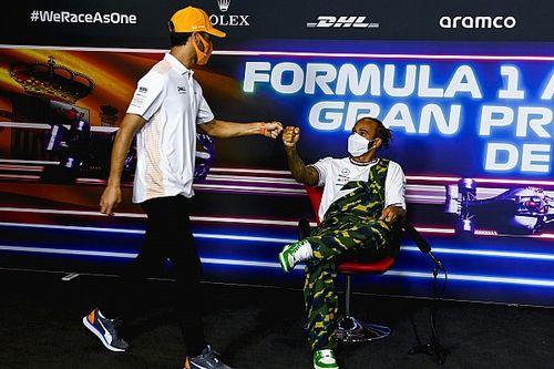 """Hamilton """"nem harapott rá"""" a Ricciardo elleni bokszmeccs lehetőségére"""