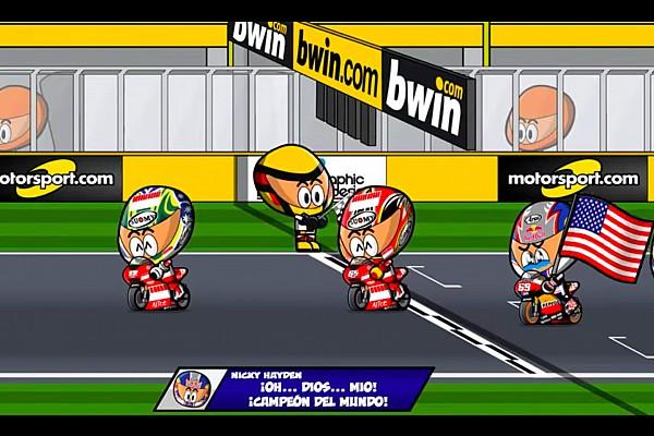 Vídeo: el GP de Valencia 2006 que coronó a Hayden, por 'MiniBikers'