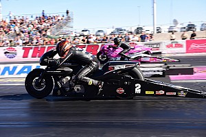 NHRA Qualifying report Krawiec takes Pro Stock Motorcycle world title and No. 1 qualifier