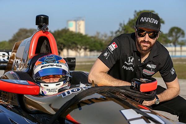IndyCar Robert Wickens a effectué son test en IndyCar