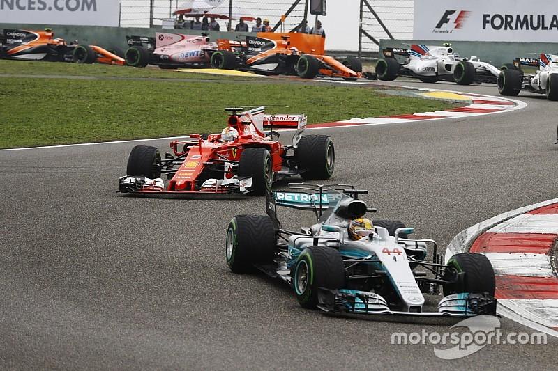 """F1 in Shanghai: Lewis Hamiltons Rennen begann """"erst, als Vettel 2. war"""""""
