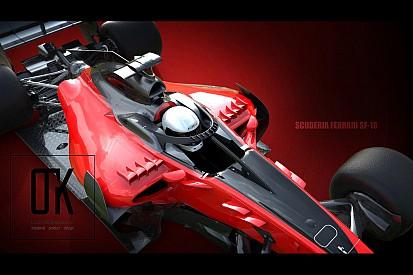 Formula 1 Tasarım: Ferrari 2018 Halo Konsepti