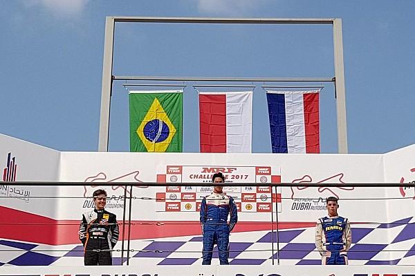 Indian Open Wheel MRF Dubai: Indonesia Raya berkumandang, Presley Martono menangi Race 4
