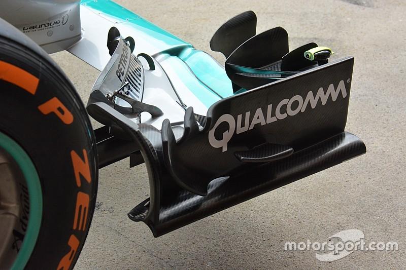Технический брифинг: переднее крыло Mercedes W07