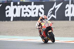 Marquez domineert warm-up voor Grand Prix van Valencia