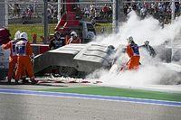 Les Tecpro salués par les pilotes F1 après l'impressionnant crash en F2