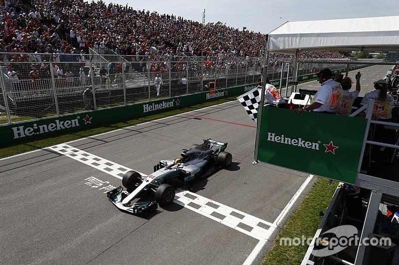 Kanada GP: Hamilton kazandı, Mercedes duble yaptı!