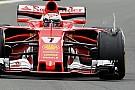 Pirelli: la gomma di Kimi lesionata da un contatto con un corpo esterno