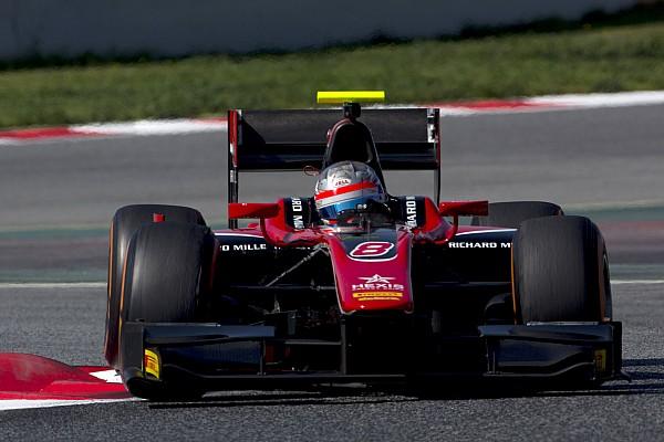 F2 Barcelona testi: İkinci günün lideri Albon
