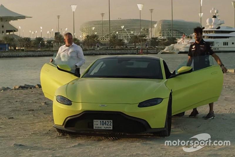 Video: Daniel Ricciardo bestuurt de nieuwe Aston Martin Vantage