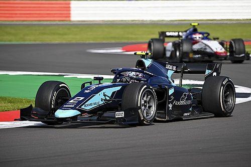 F2シルバーストン:レース2はティクトゥムが初優勝。角田は1周目の接触でリタイア