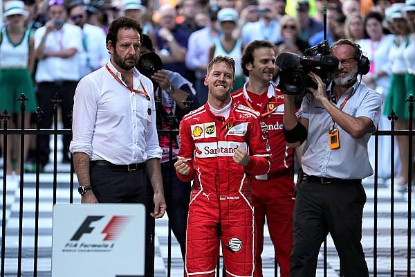 F1 速報ニュース 【F1】運も味方にしたベッテル「正真正銘のレースができて楽しかった」