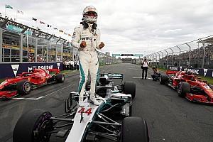 Hamilton logra la pole position para Australia y Pérez en 13°