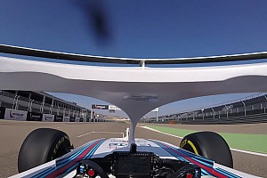 Onboard: Kubica di mobil Williams FW41 dengan halo