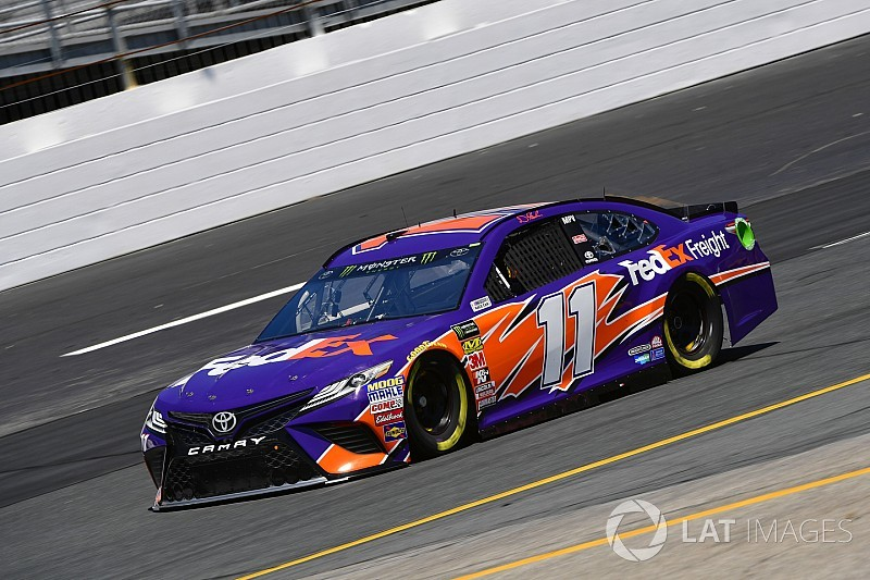 Denny Hamlin leads second Cup practice from NHMS