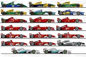F1 Top List 回顾迈克尔·舒马赫驾驶过的20款F1赛车