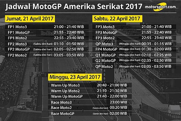 MotoGP Breaking news Jadwal lengkap MotoGP Amerika 2017