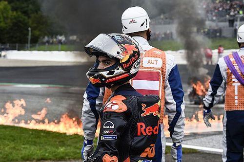 "Dani Pedrosa ""very lucky"" in fiery Styria MotoGP crash"