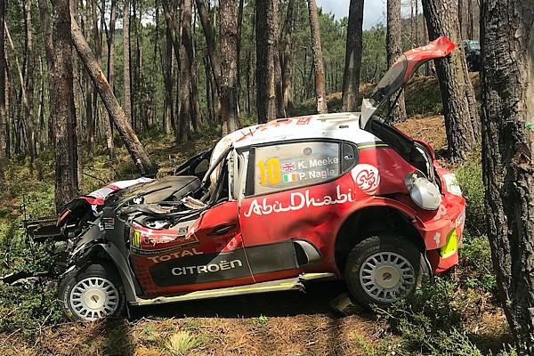 WRC Breaking news Citroen believes car strength saved Meeke in crash