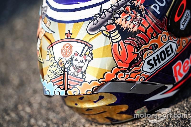 Un casque spécial pour Márquez au Japon