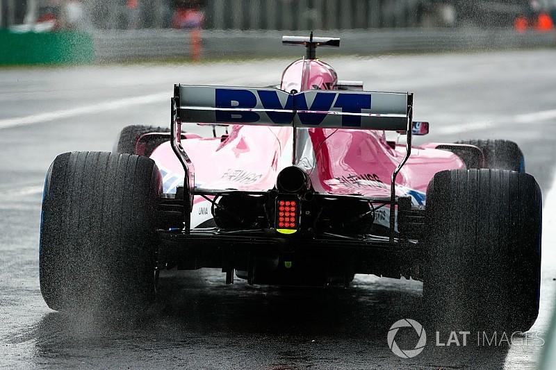 Pérez lideró la primera práctica bajo la lluvia en Monza