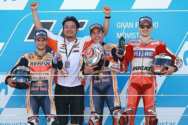 MotoGP Reporte de la carrera Triunfo de Márquez en Aragón para liderar el campeonato en soledad