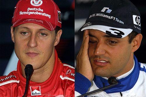 Cuando Montoya provocó a Schumacher frente a la prensa