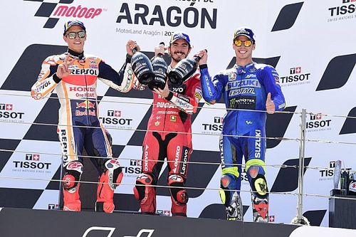 Marquez donated Aragon MotoGP trophy to fallen racer's family
