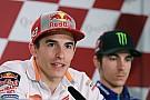 """Márquez: """"Estoy muy contento de que Rossi siga; es correr contra una leyenda"""""""