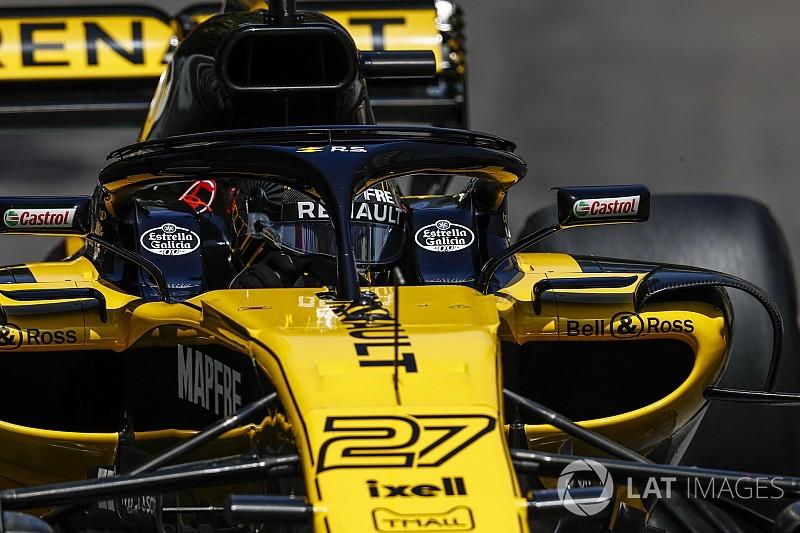 ルノー、ハロ搭載ミラー導入を再検討。フェラーリのウイング除去影響