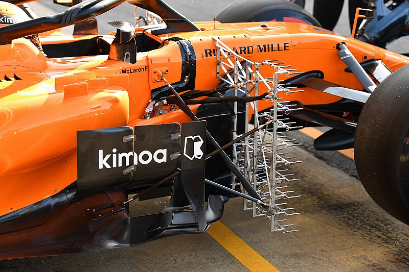 GALERÍA TÉCNICA: últimas actualizaciones de F1 de las pruebas en Barcelona