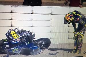 MotoGP Crónica de test La pretemporada 2018 arranca con una espeluznante caída de Rossi