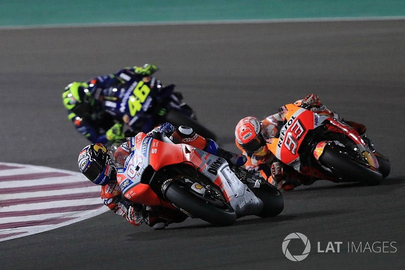 Qatar MotoGP: Dovizioso beats Marquez to win by 0.027s