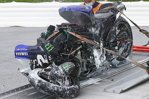 Катапультирование Виньялеса: почему исправных тормозов на Yamaha хватило всего на четыре круга?