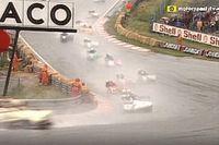VIDEO: Met de zijspan in de regen door Eau Rouge in 1986
