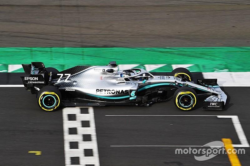 """Képgaléria: """"tesztelés"""" alatt a Mercedes W10 Silverstone-ban"""