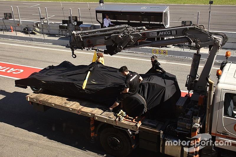 El problema de motor retrasó a Mercedes en su deseo por evaluar partes aerodinámicas