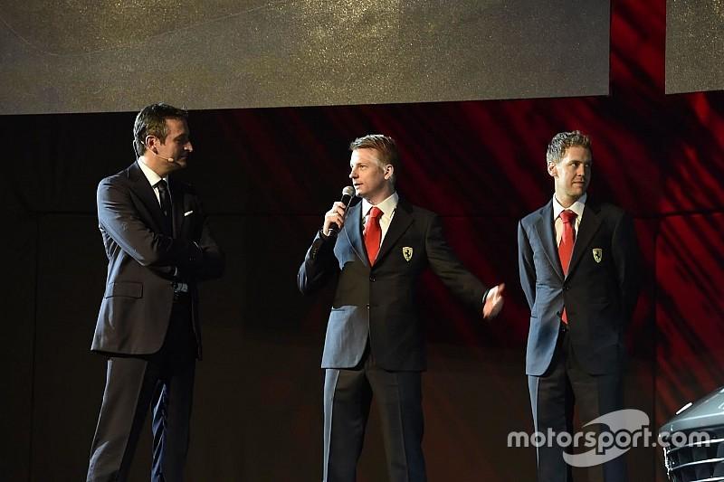 Kimi e Sebastian alla premier della Ferrari GTC4Lusso