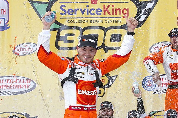 NASCAR XFINITY Larson takes Fontana Xfinity win after thrilling battle