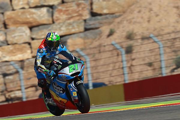 Morbidelli celebró en el final en Moto2