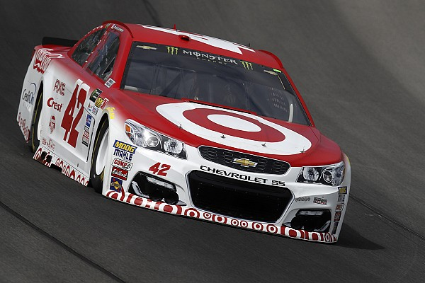 Larson tops second Michigan practice; Bell makes first laps in Cup car