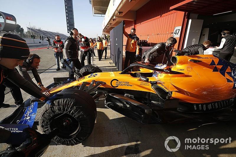 F1バルセロナ公式テスト2回目:2日目午前タイム結果