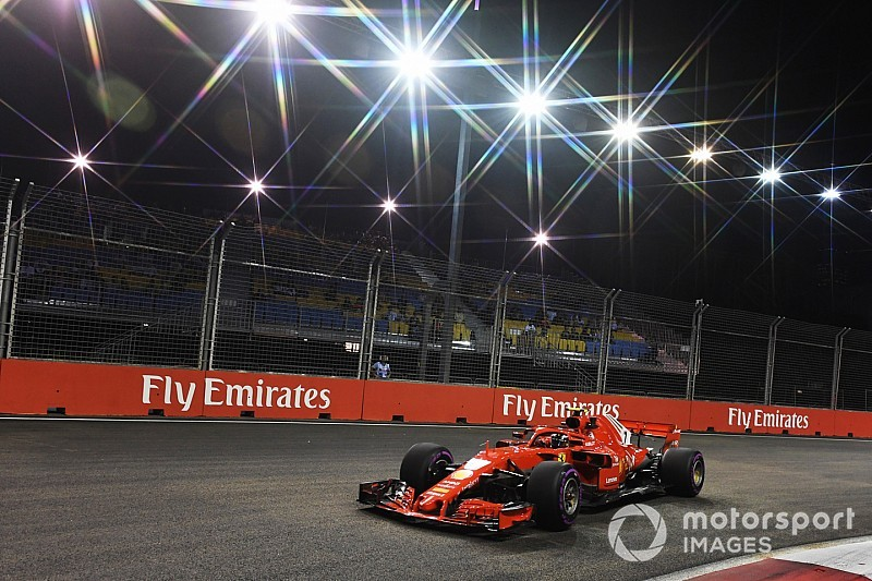 Raikkonen comanda segundo treino em Singapura; Vettel erra