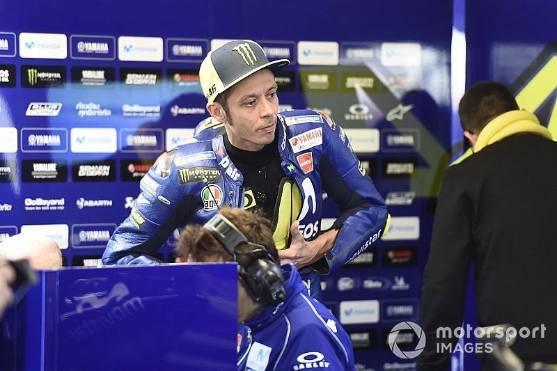 Kondisi trek sebabkan Rossi tak maksimal