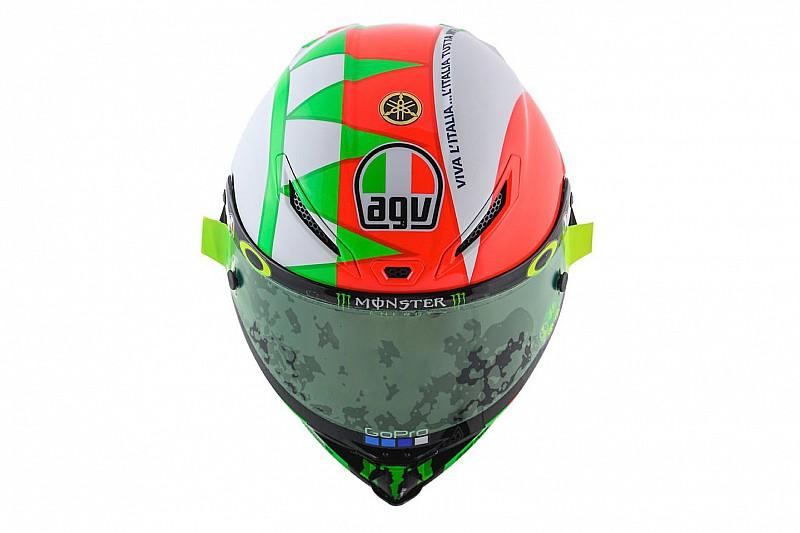 Galería: el casco especial de Valentino Rossi para el GP de Italia 2018